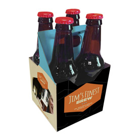 4 Pack 12 oz. Beverage Carrier Hoppey
